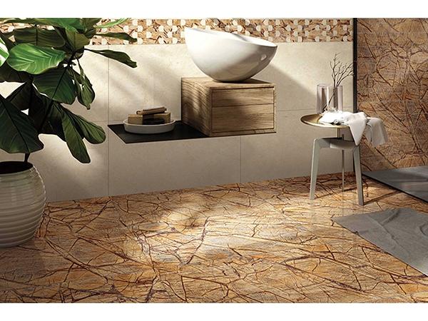 Piastrelle ceramica effetto marmo foresta pluviale marrone