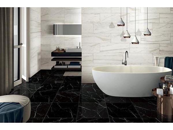 Piastrelle ceramica effetto marmo nero marquina piastrelle ceramica effetto marmo gani tile - Piastrelle effetto marmo ...